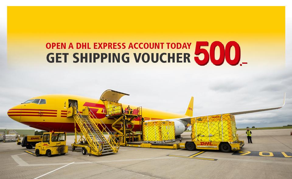Open an DHL Express Account today. Get 500 THB international shipping voucher*