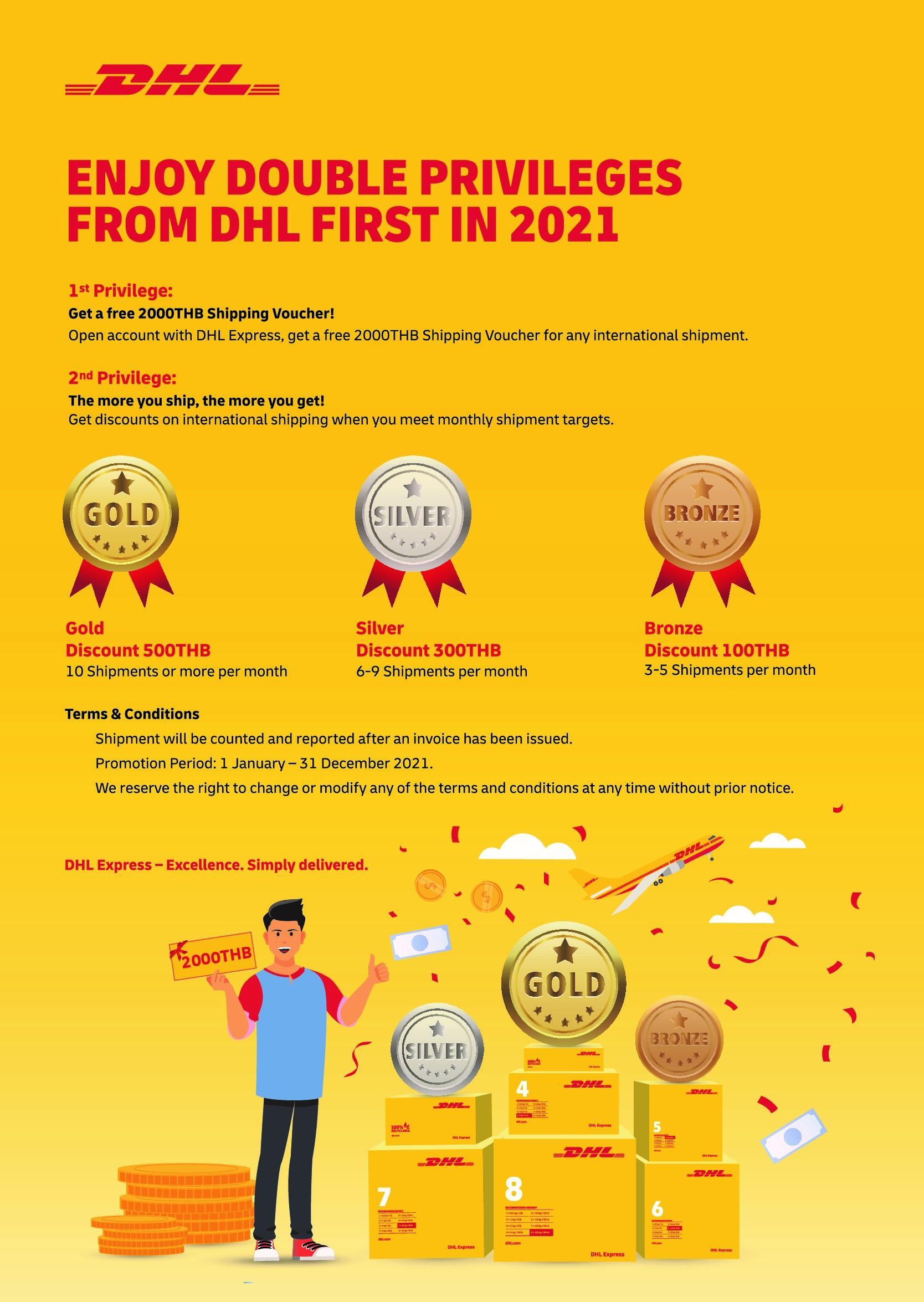 DHL FIRST. SHIP MORE, GET MORE!